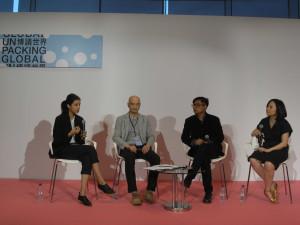 L to R: Seher Shah, Wang Guanle, Byron Kim, Joan Kee